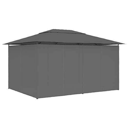 Ausla - Cenador plegable para jardín (4 x 3 m), color gris