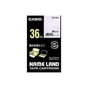 (業務用2セット)カシオ CASIO 透明テープ XR-36X 透明に黒文字 36mm