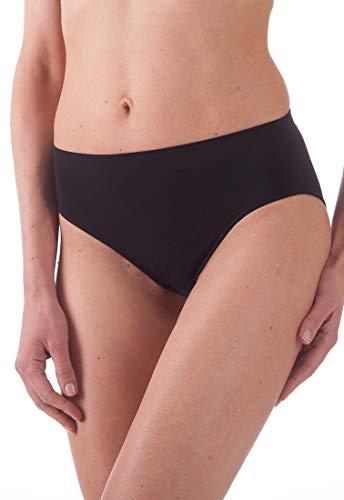 BELLISSIMA Slip Donna in Microfibra Elasticizzata Art. 014 Senza Cuciture - Offerta Confezione da 5 Slip - Disponibile nei Colori Bianco, Nero e Naturale