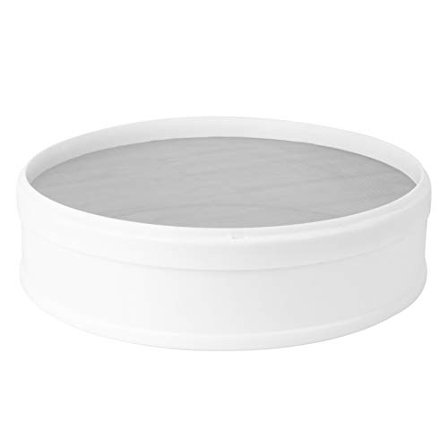 DOITOOL Soil Sieve Mesh Filter Sifting Pan Dirt Sifter Strainer Bonsai Gardening Tool for Trapping Beach Sand Filtration 30cm White