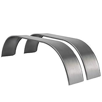 RecPro Steel Trailer Fenders Tandem Axle 64  x 10  x 16  | 14 Gauge Steel | Teardrop Trailer Fenders  2 Fenders No Rubberized Undercoating Spray