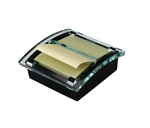 Post-it Pop-up Notes Dispenser DS330-BK, 3 in x 3 in, Black Base Clear Top (DS330-BK), Classic Black