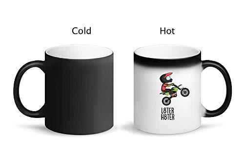 IDcommerce L8ter H8ter Motocross Tazza Magica di Design con Tazza in Ceramica 325ml