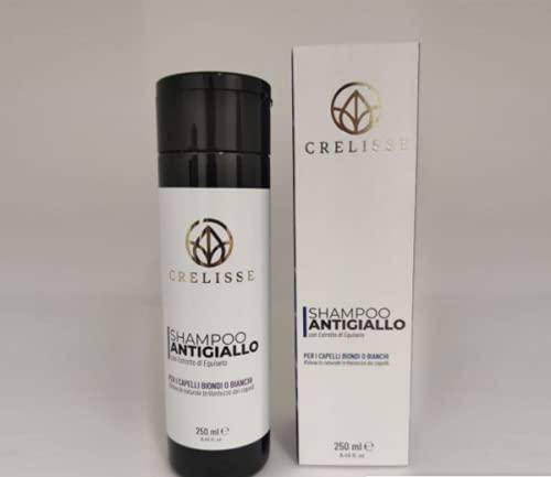 Mascarilla antiamarillo para cabellos rubios o blancos, 250 ml, champú antiamarillo tonificante 250 ml Crelisse (champú)