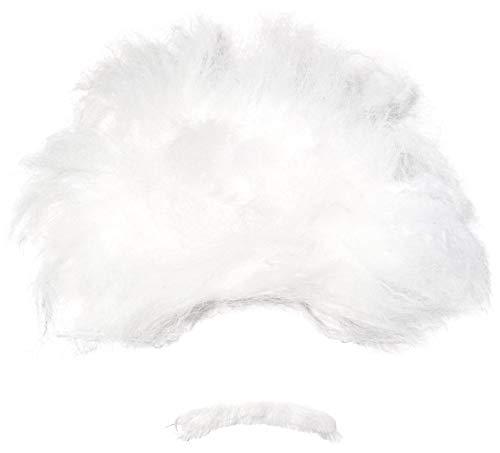Forum Novelties Men's Heroes In History Albert Einstein Costume Wig and Mustache, White, One Size