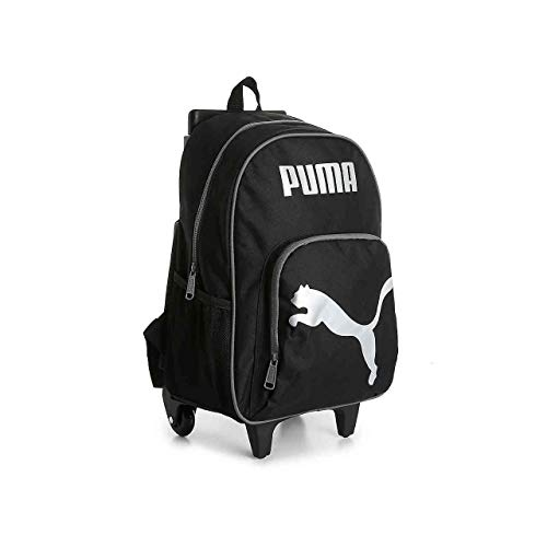 PUMA Big Kids' Axis Wheelie Backpack, Black/Silver, OS