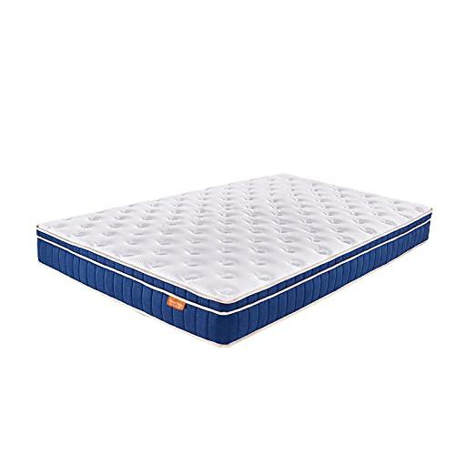 Sweetnight Matratze 90x200, Federkernmatratze Matratzen 90x200cm 7-Zonen Taschenfederkernmatratzen Atmungsaktiv orthopäde Tonnentaschenfederkern matratze, Höhe 20 cm ,Härtegrad H4