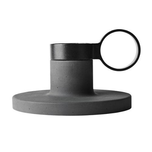 Menu 4757139 Kerzenhalter Weight Here, M, Höhe 12,2 cm, Durchmesser 19,1 cm für Stumpen-Kerzen