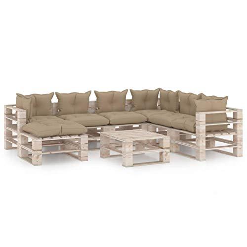 vidaXL - Paleta de madera de pino para muebles de jardín, muebles de jardín, muebles de terraza, muebles de patio