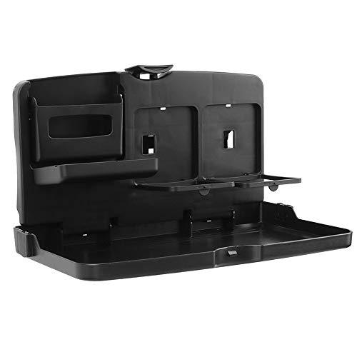 Mesa de comedor plegable de automóviles Bandeja de bandeja de asiento de coche portátil con taza de agua Posición fija Instalación no destructiva Adecuada para motores generales (2 piezas)