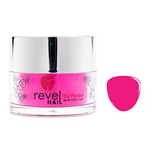 Revel Nail Dip Powder | for Manicures | Nail Polish Alternative | Non-Toxic, Odor-Free | Crack & Chip Resistant | Vegan, Cruelty-Free | Can Last Up to 8 Weeks | 0.5 oz Jar | Neon (Staff)