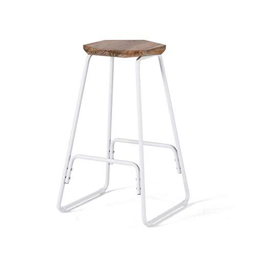 Eenvoudige retro barkruk smeedijzeren creatieve ontbijt bar stoel moderne minimalistische retro stoel massief hout hoge kruk barkruk kan worden gebruikt voor woonkamer, balkon, cafe, teller en dus op. Voor Kitche
