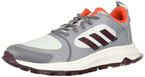 adidas Women's Response Trail X Running Shoe, Grey/Maroon/Blue Tint, 7.5 M US