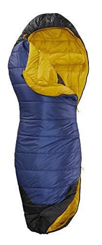 Nordisk - PUK Schlafsack, strapazierfähiges Ripstop-Außengewebe, 2-Wege-Reißverschluss, Curve-Konstruktion/Form, -2 Grad, Grösse XL, Blau