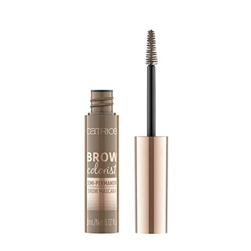 Catrice Brow Colorist Semi-Permanent Brow Mascara, Nr. 015 Soft Brunette, braun, volumengebend, definierend, langanhaltend, natürlich, matt, vegan, Nanopartikel frei, ohne Parfüm (3,8ml)