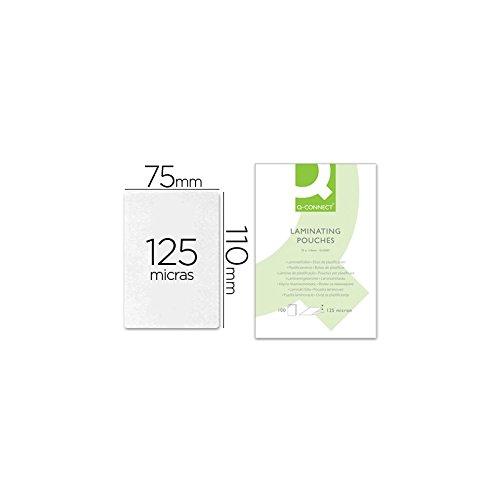 Q-Connect - Bolsa De Plastificar 110 X 75 Mm 125 Mc Carnet De Identidad Caja De 100 Unidades