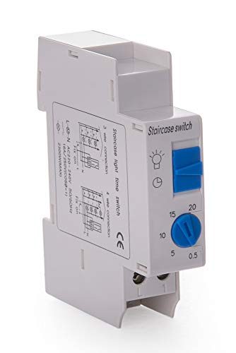 Elektronisch Treppenhausautomat 16A 230V Treppenlichtzeitschalter Zeitrelais Zeitschaltuhr