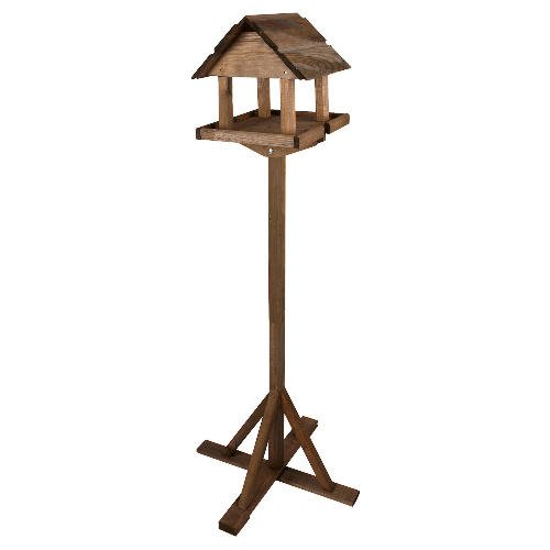 Kingfisher SOLID WOOD PREMIUM TRADITIONAL WOODEN BIRD TABLE. FEEDER HOUSE. TREATED.