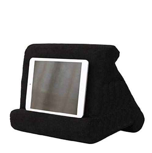 XINYA BAO Tablet Holder Laptop Cushion Tablet Cushion Multi-Angle Knee Stand with Soft Cushion for iPad, Tablet, E-Book Reader, Smartphone, Books and Magazines, 8 Colours black Black