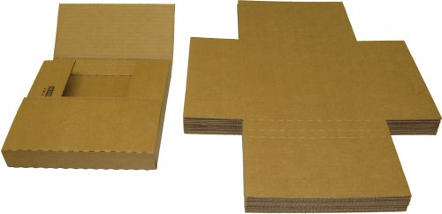 """7"""" 45RPM Vinyl Record Shipping Mailers - Adjustable Multi-Depth Kraft Brown - Holds 1 to 12 7"""" Vinyl Records #07BC01VD (Qty: 10)"""
