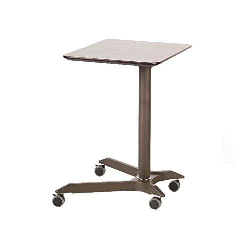 GAOYANG laptoptafel, pneumatische zitplaats, mobiele desktopwagen, in hoogte verstelbaar, staande luier tafel sofa nachtkastje kantoor-draagtafel, bruin (maat: 67,5-104 cm)