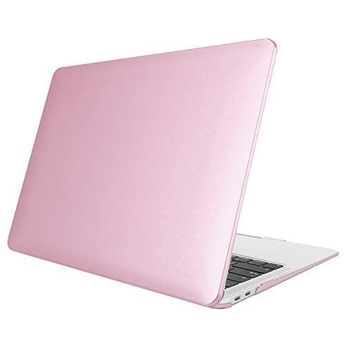 FINTIE Case for MacBook Air 13 Inch (2020 & 2019 & 2018 Release) A2179 / A1932 - Protective Snap On Hard Shell Cover for New MacBook Air 13 Retina Display with Touch ID, Rose Gold