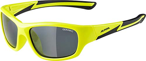 ALPINA FLEXXY YOUTH Sportbrille, Kinder, neon yellow-black, one size