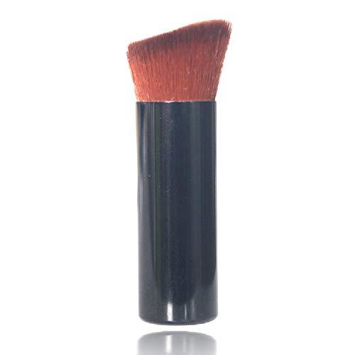 Shouhengda 1 pièce pinceau de maquillage poignée en plastique pour le visage et l'aile de nez Tools outils de pinceau de maquillage (noir)
