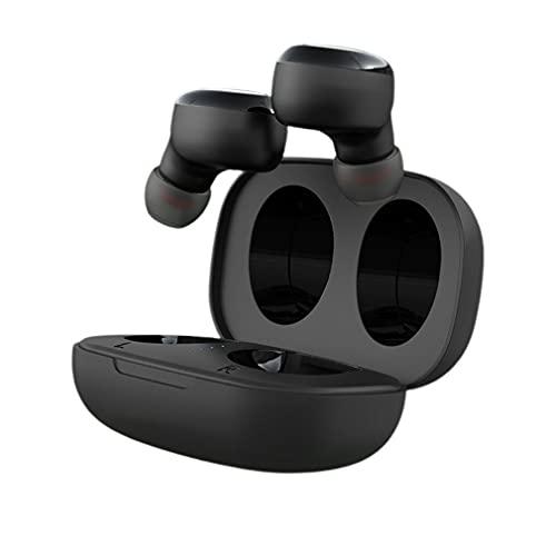 SeniorMar-UK S8031 Casque sans Fil 5.0 Appel binaural Tactile Affichage numérique Réduction du Bruit Sports Intra-Auriculaires Écouteurs sans Fil Noir