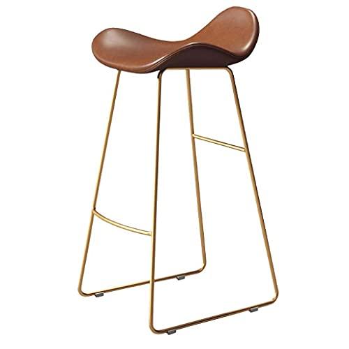 Taburetes de bar con asiento de plástico de arco moderno, altura para sentarse 25 '' / 27 '' / 29 '', silla de patas de metal dorado para desayuno de cocina para cafetería, bar, balcón para el hogar