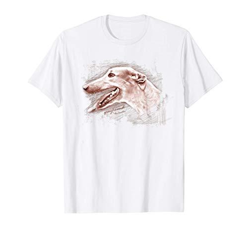 Perro dibujando galgo Camiseta