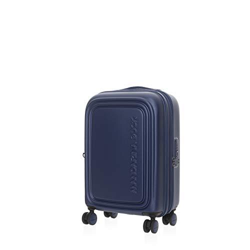 Mandarina Duck LOGODUCK+ CABIN Trolley, koffer met harde schaal, 55 x 40 x 20 cm, zomerblauw