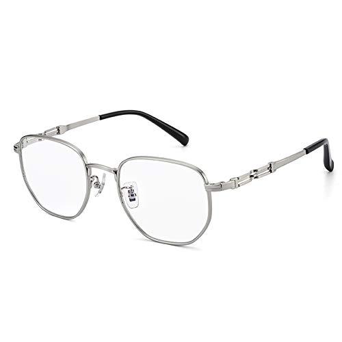 HQMGLASSES Anti-Gafas de Sol de Color Azul Claro multifocales progresivas Inteligentes al Aire Libre, Resina fotocrómica HD Lectura Lentes de Cristales / UV400 dioptrías +1,0-+3,0,Plata,+2.5