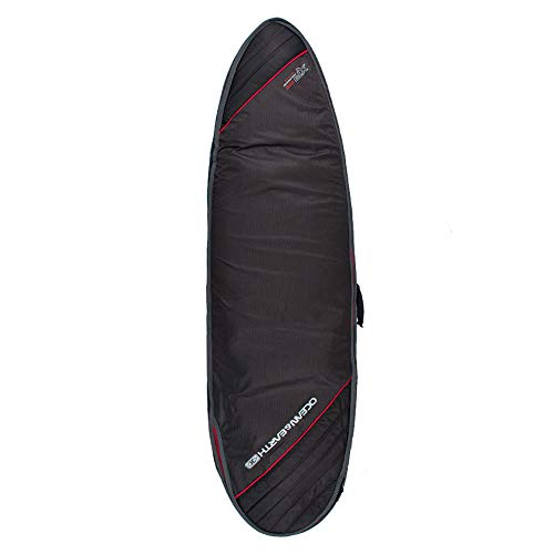 Ocean and Earth Triple Compact Fish Cover Surfboard Bag 7ft2 Black