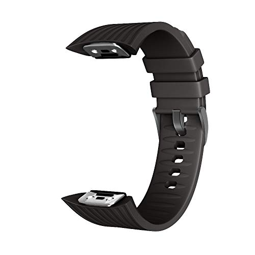 Tamkyo シリコーン時計バンドストラップ Galaxy Gear Fit 2 Pro用 時計バンド 手首のブレスレットストラップ Gear Fit 2 SM-R360用-ブラック