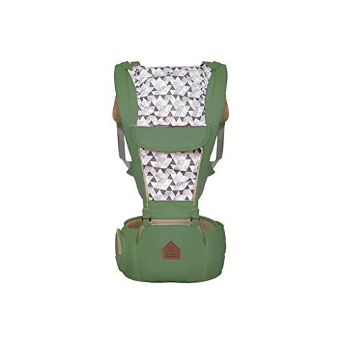 YQ&TL Babytrage Tragetuch 0-36 Monate Mutter Babypuppe Abnehmbare Schulter Vorn montierter Multifunktionsgurt Hüfthocker, Dunkelgrün