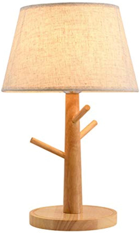 Massivholz stoff schreibtisch licht, einfache dekorative persnlichkeit kreative nordic tischleuchte, moderne studie schlafzimmer hochzeit tischlampe