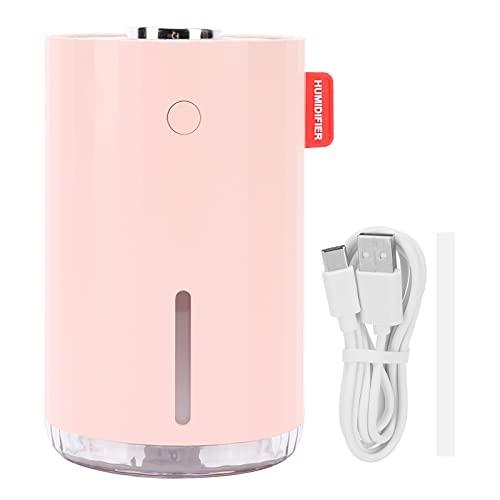 Zerodis Mini Humidificador para Coche, Purificador Ambientador Rosa Alimentado por USB Atomizador de Escritorio Súper Silencioso para Coche de Oficina en Casa
