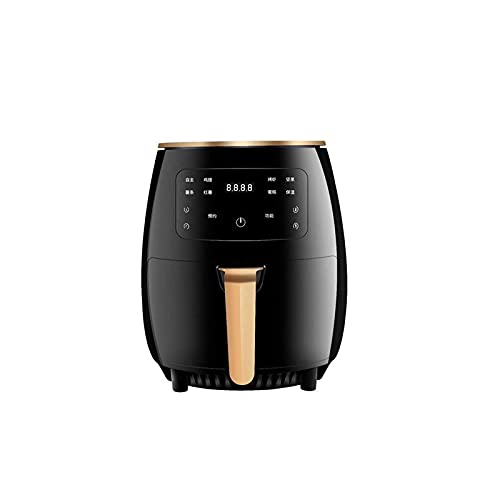 Home Equipment Oil Free Hot Air Health Fryer Air Fryer with Rapid Air Circulation System Frying Technology Adjustable Temperature Control for Healthy Oil Free Or Low Fat Cooking 1200 W Black (Color