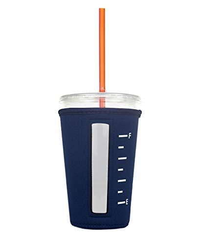 Isolierte Neopren-Becherhalter für eisgekühlte Getränke, Kaffee und Tee, Marineblau, Größe M