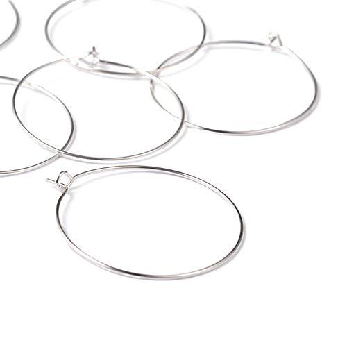 Craftdady 100 aros redondos de plata de 14 mm, anillos para abalorios...