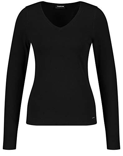 Taifun Damen 472024-19541 Pullover, Schwarz (Black 1100), Small (Herstellergröße: S)