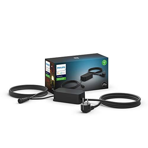 Philips Hue Cable de Alimentación para Lámparas de Exterior, 40 W, Compatible con Alexa y Google Home