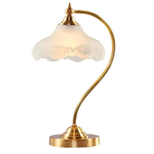 XILIN-1987 Lámparas de Escritorio Simple Retro Cobre Lámpara de Mesa Dormitorio casero Europeo Lámpara de cabecera Estudio Lámpara de Mesa Oro Lámpara de Mesa para niños