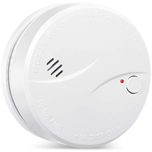 Alarma de Humo de 10 años con batería HEIMAN, VdS/BOSEC/EN14604 CE certificación Detector de Humo, Sensor fotoeléctrico con función de verificación automática de alarma-625PHS (1 Unidade)