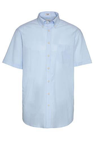 Bugatti - Herren Kurzarm Hemd mit Button Down Kragen (Art. Nr.: 9450-58330), Größe:L, Farbe:Light Blue (320)