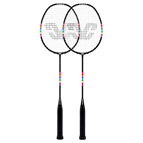 topxingch 1 Set Badminton Rackets Well Design Training Badminton Racquet Set For Outdoor Black