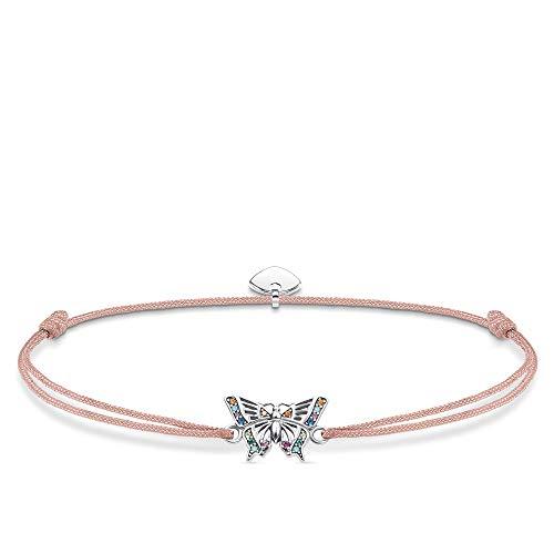 Thomas Sabo Damen-Armband Little Secret Schmetterling 925er Sterlingsilber geschwärzt LS082-640-7-L20v