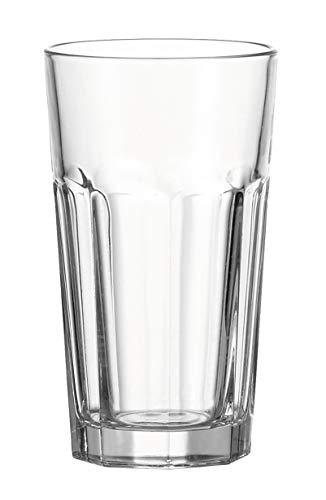 Leonardo Rock Becher XL, 4-er Set, 540 ml, spülmaschinengeeignet, Klarglas, 013384