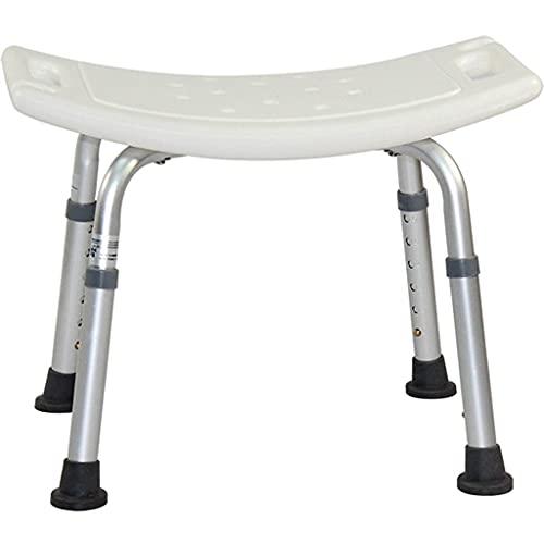 PSHHLBR Duschhocker für ältere Menschen, Badewannenstuhl, rutschfest, für ältere Menschen mit Behinderten, schwangere Frauen, kann 180 kg tragen (Farbe: Weiß, Größe: 50,5 cm)